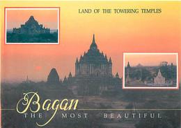 Birmanie - Bagan - Multivues - Coucher De Soleil - Carte Neuve - Myanmar - CPM - Voir Scans Recto-Verso - Myanmar (Burma)
