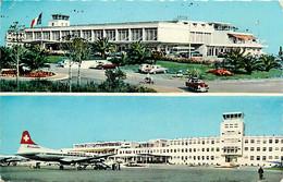 Aviation - Aéroport - Nice Côte D'Azur - Multivues - Automobiles - Airport - CPSM Format CPA - Voir Scans Recto-Verso - Other