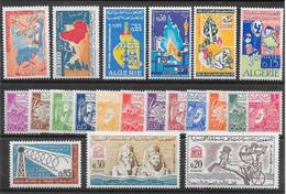 Algérie Année 1964 N°385 à/to 404 Complet 21 TP ** - Algeria (1962-...)