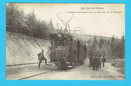 CPA Tramway électrique Pour Le Schlucht Et Le Honneck - Les Hautes Vosges 88 - Beau Plan Animée - Altri Comuni