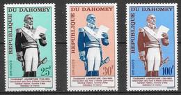 Dahomey N°199 à/to 201 Toussaint-Louverture Haïti 1963 ** - Benin – Dahomey (1960-...)