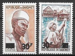 Dahomey N°253 30F & N°254 30F 1967 ** - Benin – Dahomey (1960-...)