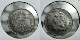 PORTUGAL ST. THOMAS And PRINCE 20 CENTAVOS 1929 Km# 3 UNC (G#07-120) - Sao Tome And Principe