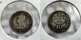 PORTUGAL ST. THOMAS And PRINCE 10 CENTAVOS 1929 Km# 2 (G#07-121.1) - Sao Tome And Principe