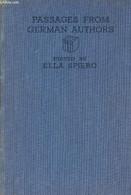 Passages From German Authors - Siero Ella - 1938 - Sonstige