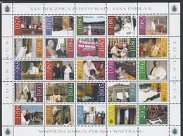 POLAND 4018-4042,unused,popes - Ongebruikt