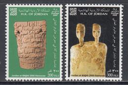 2000 Jordan Expo Hanover Ancient Artefacts Complete Set Of 2 MNH - Giordania