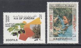 2001 Jordan Olive Trees Complete Set Of 2 MNH - Giordania