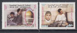 2001 Jordan Al-Dorra Intefada Palestine Jerusalem  Complete Set Of 2 MNH - Giordania