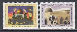 2001 Jordan Palestinian Intifada Jerusalem    Complete Set Of 2 MNH - Giordania