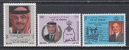 2000 Jordan  King Hussein  Complete Set Of 3 MNH - Giordania