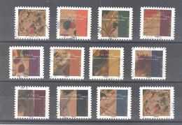 France Autoadhésifs Oblitérés (Série Complète : Vassily Kandinsky - Dans Le Cercle) (cachet Rond) - Used Stamps