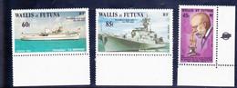 Wallis Et Futuna YT 279/281 Navires De Guerre, Robert Koch N** MNH - Unused Stamps
