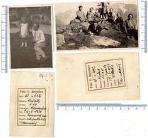 N° 2 Foto Del 1929 E Del 1930 COURMAYEUR -  Sul Prato Del Dancing - Villette - Aosta