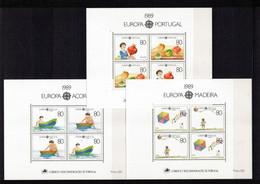 PORTOGALLO+AZZORRE+MADERA Foglietti Europa CEPT 1989 - Unused Stamps