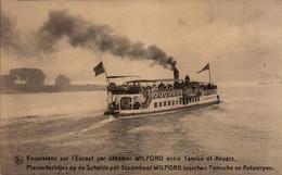 Excursions Sur L'Escaut Par Le Steamer WILFORD Entre Tamise Et Anvers - Antwerpen