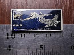 Aviation Metal Badge Lapel Pin Airplane Antonov An-8 Soviet Union USSR Avia - Aerei