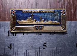 Ship Warship Destroyer USSR NAVY Soviet Union Metal Badge Pin USSR Boat - Giochi Olimpici