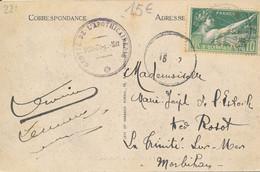 France Timbre Perforé CO (Crédit De L'Ouest à Angers) Utilisation Frauduleuse Sur Carte Personnelle De Belle Isle En Mer - Gezähnt (Perforiert/Gezähnt)