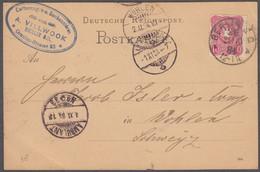 GERMANIA - 1884 - Cartolina Postale Viaggiata Affrancata Con Yvert 38, 10 Pfennig, Come Da Immagine. - Covers & Documents