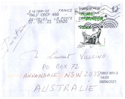 (RR 34) France Posted To Australia (posted During COVID-19 Pandemic) EUROPA 2021 Stamp - Storia Postale