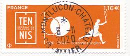 FRANCE 2020 -  Timbre Oblitéré Gommé Dentelé N5438 TENNIS (beau Cachet Rond) - 2010-.. Matasellados