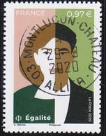 FRANCE 2020 -  Timbre Oblitéré Gommé Dentelé N5426 EGALITE (beau Cachet Rond) - 2010-.. Matasellados