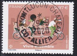 FRANCE 2020 -  Timbre Oblitéré Gommé Dentelé N5427 VIVRE ENSEMBLE (beau Cachet Rond) - 2010-.. Matasellados