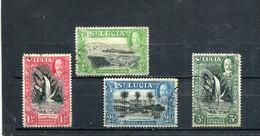 Ste Lucie 1936 Yt 93 95 97-98 - St.Lucia (...-1978)