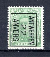 PRE59B-IV MNH** 1922 - ANTWERPEN 22 ANVERS - Typo Precancels 1922-26 (Albert I)