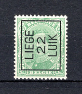 PRE61A MNH** 1922 - LIEGE 22 LUIK - Tipo 1922-26 (Alberto I)