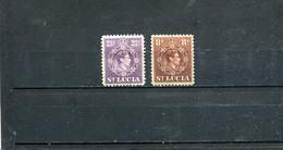 Ste Lucie 1938-46 Yt 108 114 * - St.Lucia (...-1978)