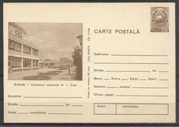"Romania, St.Card, Slatina, Shoping House   ""I.C. Cuza"", 1975. - Enteros Postales"