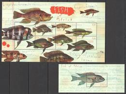 PK081 LIBERIA MARINE LIFE FISH OF AFRICA 1KB+1BL MNH - Vie Marine