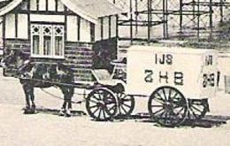 SCHEVENINGEN Wandelhoofd Met Ijscowagen ZHB 1906 -  Krag Continuerend Machinestempel 7 Lijnen - Scheveningen