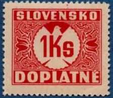 Slovakia 1939 Postage Due 1 Ks No Watermark 1 Value MH 2106.1237 - Nuovi