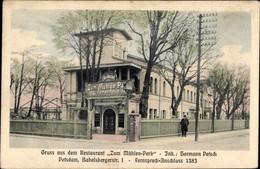 CPA Potsdam In Brandenburg, Restaurant Zum Mühlenpark, Babelsbergerstraße 1 - Otros