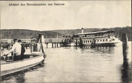 CPA Sacrow Potsdam In Brandenburg, Abfahrt Des Sterndampfers, Restaurant Zum Dr. Faust - Otros