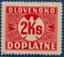 Slovakia 1939 Postage Due 3 Ks No Watermark 1 Value MH 2106.1239 - Nuovi
