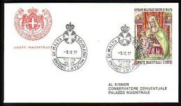 MALTA (Ordre De ) - 1977 - Sainte Vierge Marie   - FDC - Voyage - Malte (Ordre De)