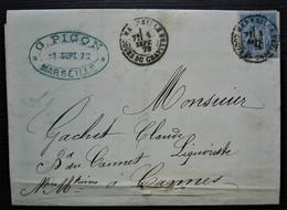 Marseille 1879 G. Picon Amer Africain L'inventeur Et Le Seul Fabricant, Très Belle Facture, à Voir ! - 1877-1920: Periodo Semi Moderno