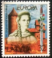 LATVIA 1997 MNH STAMP ON EUROPA, LEGEND OF TURAIDA  ROSE STAMP - Latvia