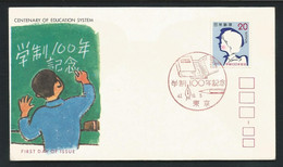 Japan 1972 Education System Centenary FDC  Y.T. 1066  ** - FDC