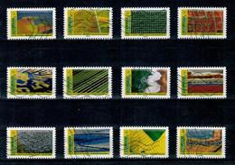 2021 SERIE MOSAIQUE DE PAYSAGE OBLITEREE COMPLETE - Adhesive Stamps