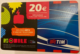 REF. 89 - TIM - 20 EURO - MOBILE - VALIDITA . NOV 2010 - [2] Sim Cards, Prepaid & Refills