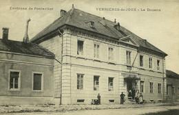 Les Verrières-de-Joux La Douane édit Faivre-Locca Voyagée En 1917 Depuis Le Village (obl Tiretée De Facteur-receveur) - Autres Communes