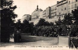 Constantine L'hotel De Ville Vue Prise Du Jardin Public      CPA - Constantine