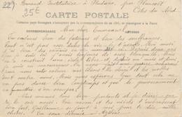 """Carte Institutrice De Pluduno (22 Côtes D'Armor)  """"on A Construit Une école Libre Et On Nous Fait Une Guerre Acharnée"""" - Unclassified"""