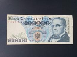 POLOGNE 100000 ZLOTYCH 1990 - Pologne