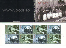 Faroe Islands 2000 100 Years Of The Faroese Folk High School, Mi 372-373  In Pan, Booklet MH 18 MNH(**) - Faroe Islands
